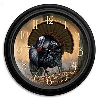 Reflective Art ''Autumn Strut'' Turkey Wall Clock
