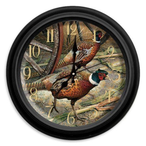 "Reflective Art ""Harvest Time"" Wall Clock"