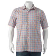 Big & Tall Arrow Traveler Plaid Casual Button-Down Shirt