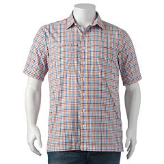 Big & Tall Arrow Traveler Plaid Casual Button-Down Shirt