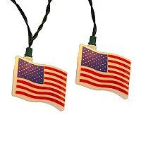 Kurt Adler USA Flag String Light Set