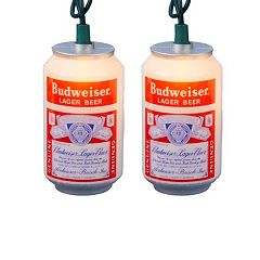 Kurt Adler Vintage Budweiser 10-Bulb Christmas Light Set - Indoor & Outdoor