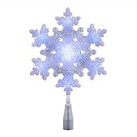 Kurt Adler LED Snowflake Christmas Tree Topper