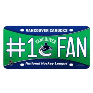 Vancouver Canucks #1 Fan Metal License Plate