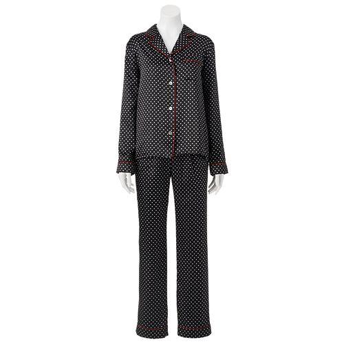 Women s Apt. 9® Pajamas - Satin Notch Collar Pajama Set 4b8aa6ff6