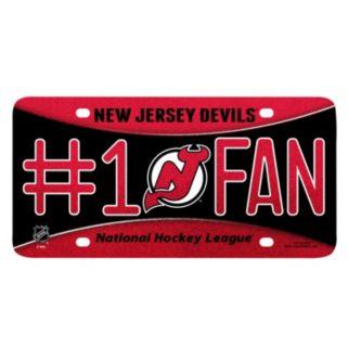New Jersey Devils #1 Fan Metal License Plate