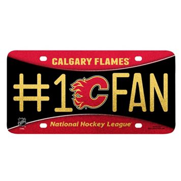 Calgary Flames #1 Fan Metal License Plate