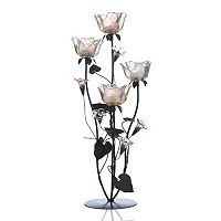 Mikasa Peach Rose Tealight Candleholder