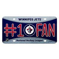 Winnipeg Jets #1 Fan Metal License Plate