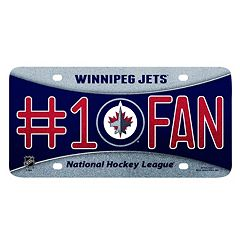 Winnipeg Jets #1 Fan Metal License Plate