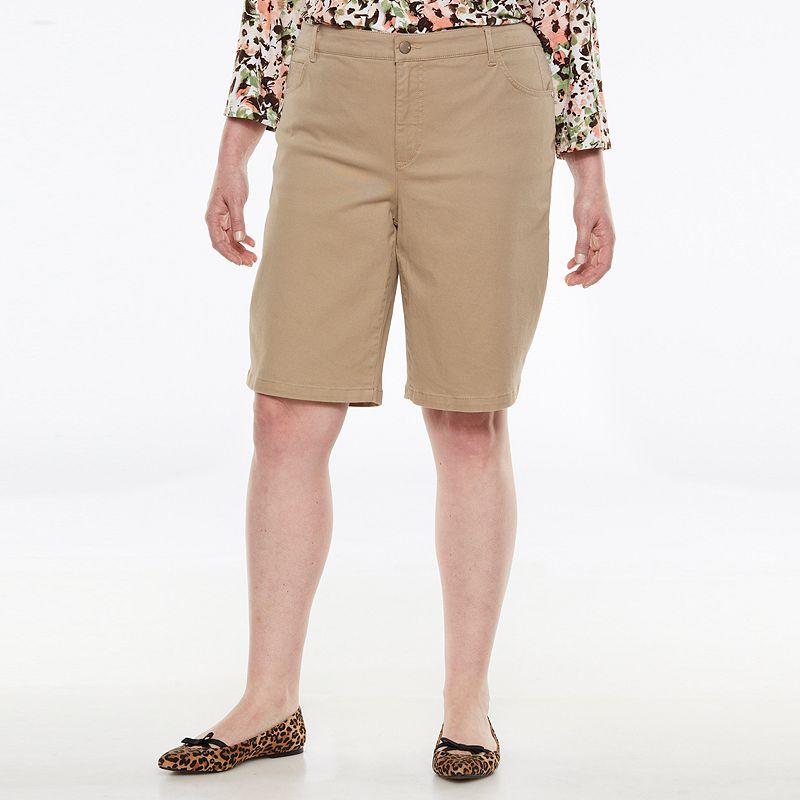 Gloria Vanderbilt Avery Comfort Waist Bermuda Shorts - Women's Plus Size