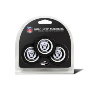 Team Golf Oakland Raiders 3-pack Poker Chip Ball Markers
