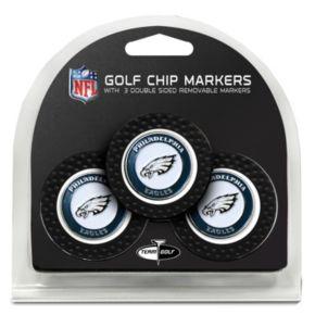 Team Golf Philadelphia Eagles 3-pack Poker Chip Ball Markers