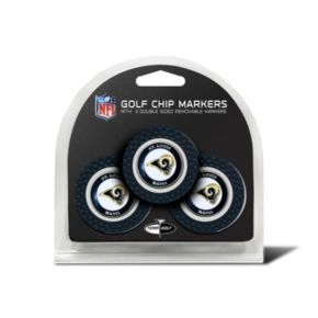 Team Golf St. Louis Rams 3-pack Poker Chip Ball Markers