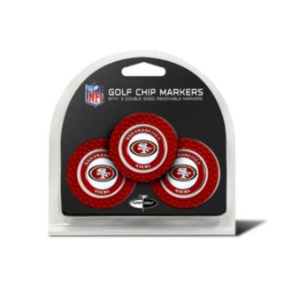 Team Golf San Francisco 49ers 3-pack Poker Chip Ball Markers