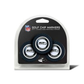 Team Golf Seattle Seahawks 3-pack Poker Chip Ball Markers