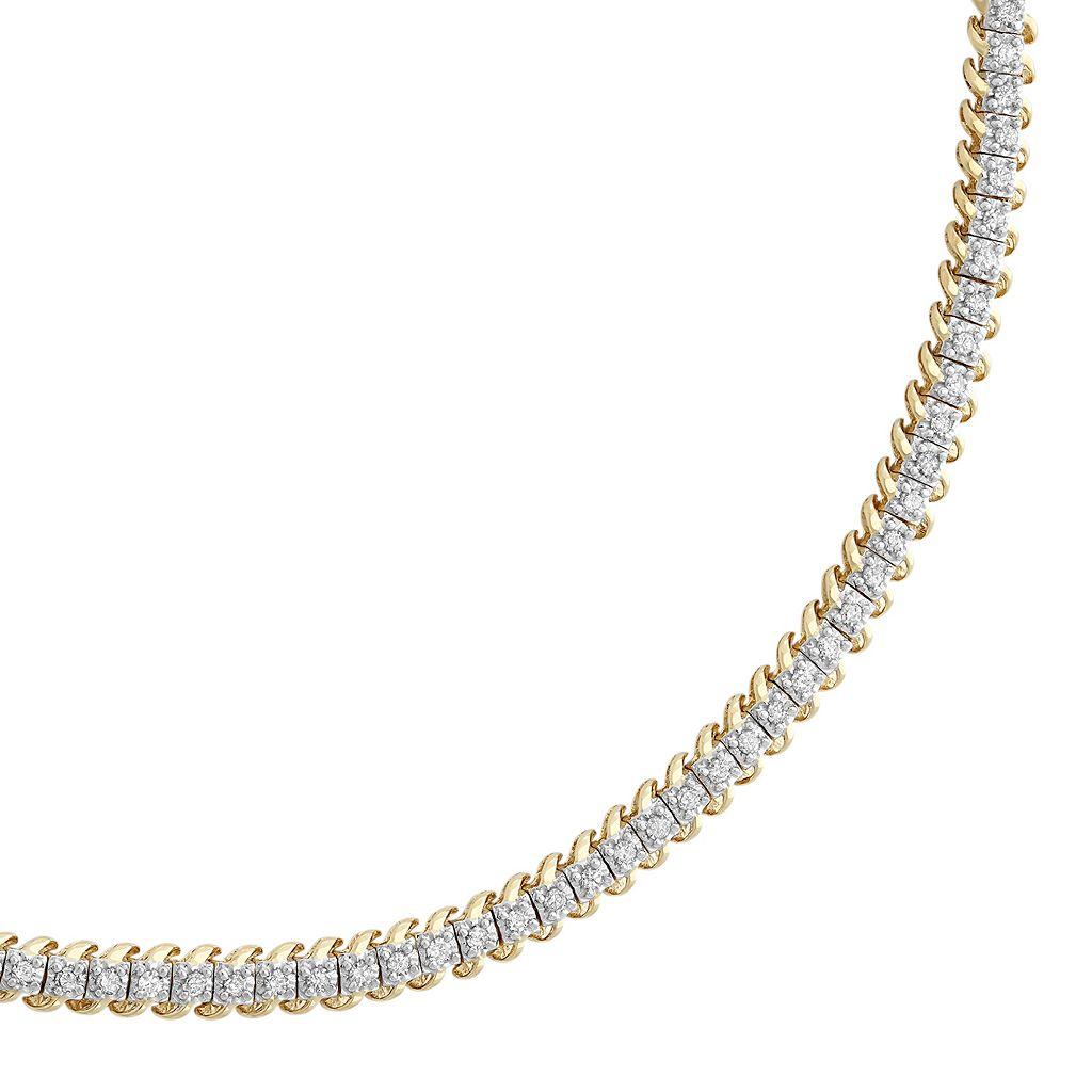 1 Carat T.W. Diamond 10k Gold Tennis Bracelet