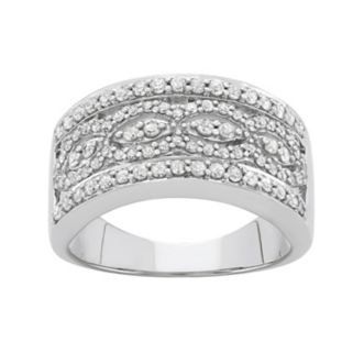 3/4 Carat T.W. Diamond 10k White Gold Ring