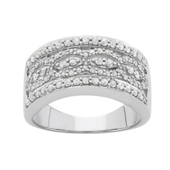 3/4 Carat T.W. Diamond 10k White Gold Ring