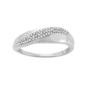 1/6 Carat T.W. Diamond 10k White Gold Ring
