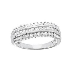 3\/4 Carat T.W. Diamond 10k White Gold Ring by