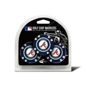 Team Golf Atlanta Braves 3-pack Poker Chip Ball Markers
