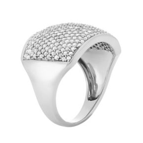 1 1/2 Carat T.W. Diamond 10k White Gold Ring