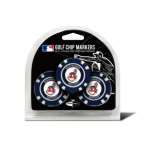 Team Golf Cleveland Indians 3-pack Poker Chip Ball Markers
