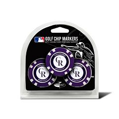 Team Golf Colorado Rockies 3-pack Poker Chip Ball Markers