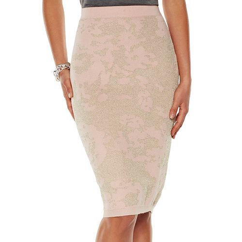 Women's Jennifer Lopez Jacquard Knit Pencil Skirt