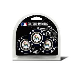Team Golf Miami Marlins 3-pack Poker Chip Ball Markers