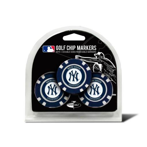 Team Golf New York Yankees 3-pack Poker Chip Ball Markers