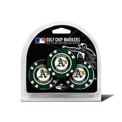 Team Golf Oakland Athletics 3-pack Poker Chip Ball Markers
