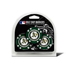 Team Golf Oakland Athletics 3-pack Poker Chip Ball Markers