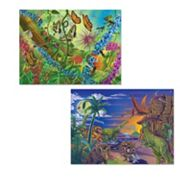 Melissa & Doug 60 pc Dinosaurs & Bugs Jigsaw Puzzle Set