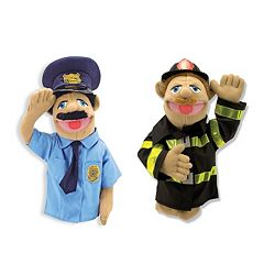 Melissa & Doug Police Officer & Firefighter Puppet Set