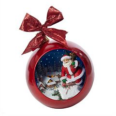 Kurt Adler Santa Music Ball Christmas Ornament