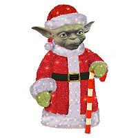 Kurt Adler Star Wars Santa Yoda Pre-Lit Christmas Decor - Indoor & Outdoor