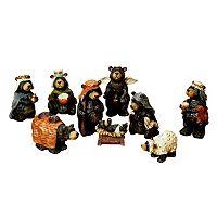 Kurt Adler Nativity Bear Set