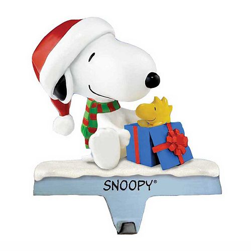 kurt adler snoopy woodstock christmas stocking holder - Snoopy Christmas Stocking