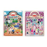Melissa & Doug Day of Glamour & Riding Club Deluxe Puffy Sticker Album Set