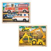Melissa & Doug Construction & Rescue Jigsaw Puzzle Set