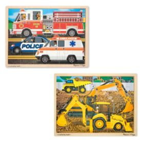 Melissa and Doug Construction and Rescue Jigsaw Puzzle Set