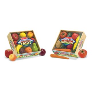 Melissa and Doug Fruits and Vegetables Play-Time Set