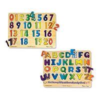 Melissa & Doug Numbers & Alphabet Sound Puzzle Set