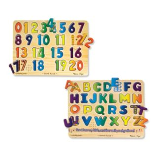 Melissa and Doug Numbers and Alphabet Sound Puzzle Set