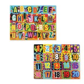 Melissa and Doug Alphabet and Numbers Jumbo Chunky Set