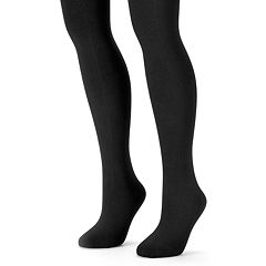 MUK LUKS 2-pk. Fleece-Lined Tights