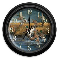 Reflective Art ''Fowl Weather'' Wall Clock