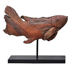 Teak Fish Decor